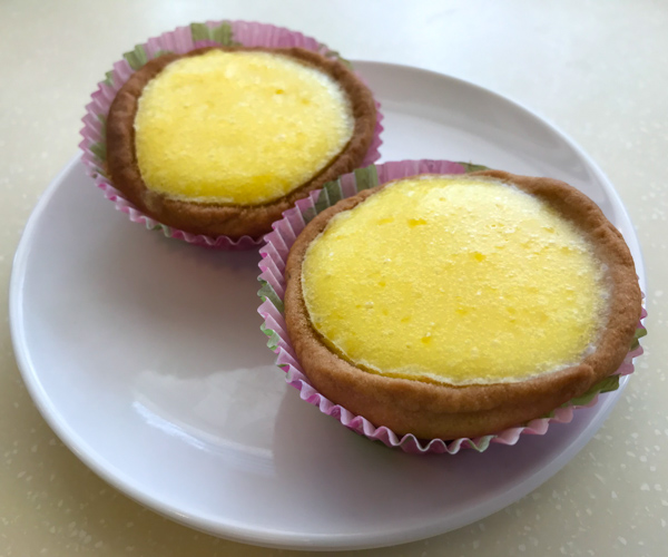 Loving Hut egg tarts