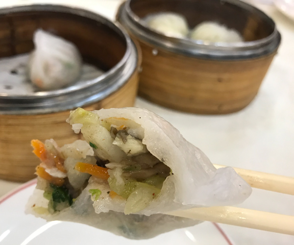 Three Virtues vegan dumplings