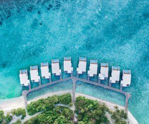 Amilla Fushi - Lagoon & Wellness Tree House - Aerial View