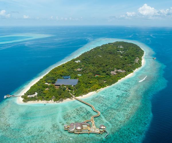 Soneva Fushi - Island Aerial