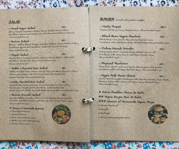 Everflow Koh Chang veggie menu 2