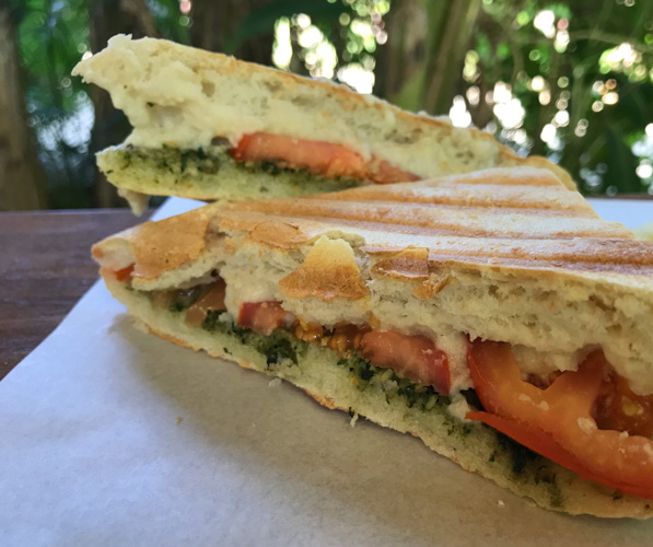 Fig Cafe Koh Chang vegan panini