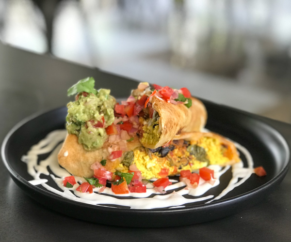 Vistro Bangkok vegan breakfast burrito