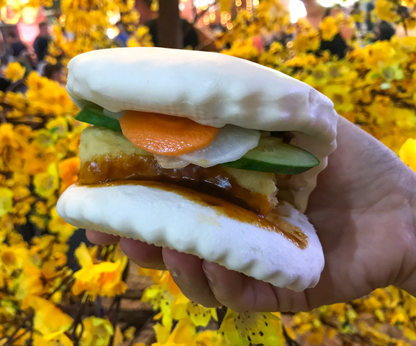 Street Food Market Saigon vegan bao
