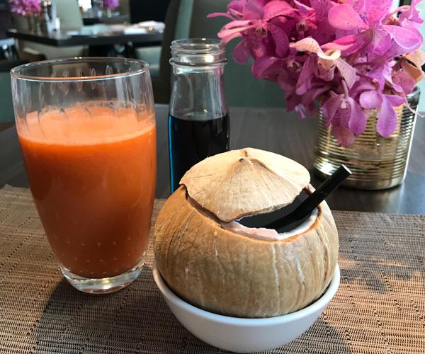 JW Marriott Bangkok breakfast juices