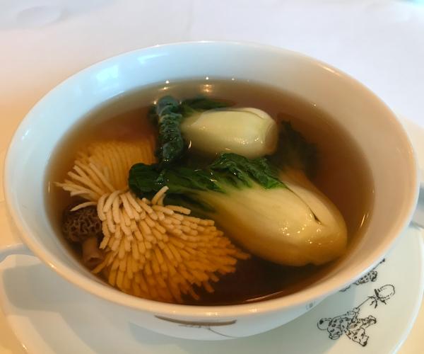 Peninsula Mei Jiang vegan soup