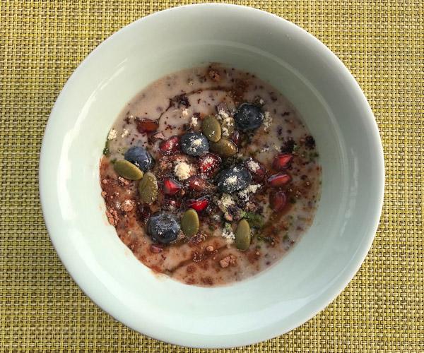Peninsula vegan breakfast quinoa