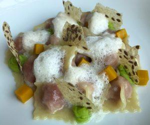 Peninsula vegan pasta with Beyond Meat