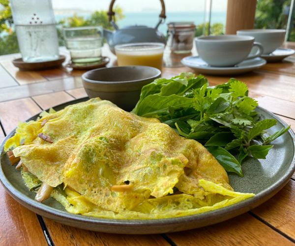 Six Senses Krabey Island breakfast banh chao