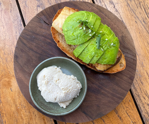 Six Senses Krabey Island vegan breakfast avo toast