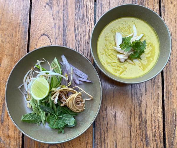Six Senses Krabey Island vegan breakfast noodles