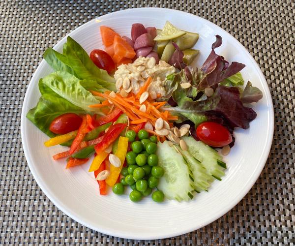 The Athenee Bangkok Vegan Breakfast Salad Platter_