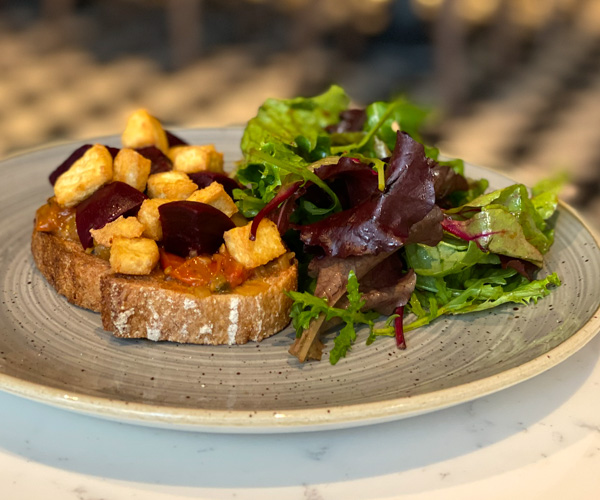 Hilton Bankside vegan breakfast