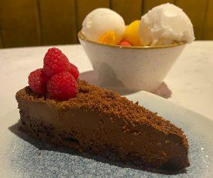 Hilton Bankside vegan brownie