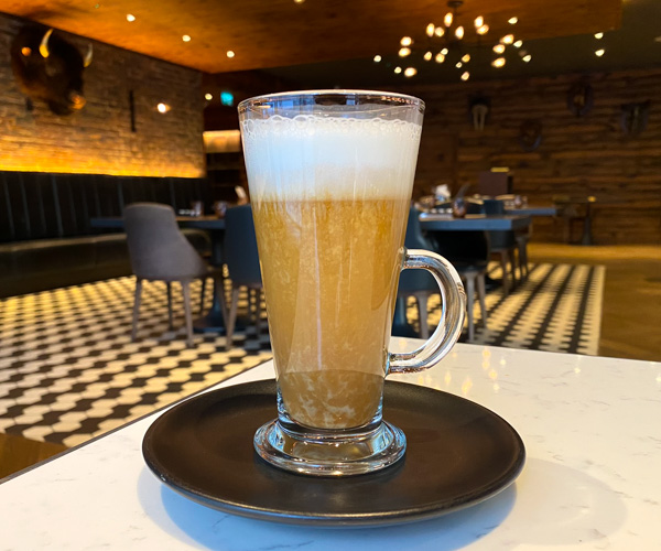 Hilton Bankside vegan latte