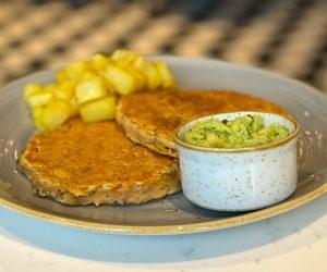 Hilton Bankside vegan pancakes