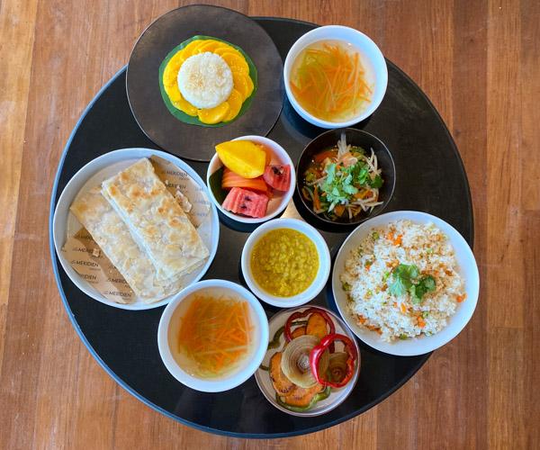 Le Meridien Angkor vegan breakfast 1