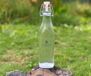 Amber Kampot glass water bottles