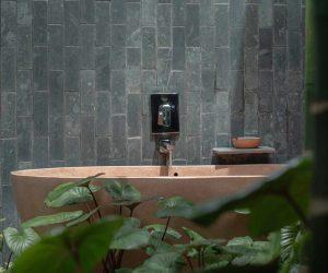 Amber Kampot outside bath