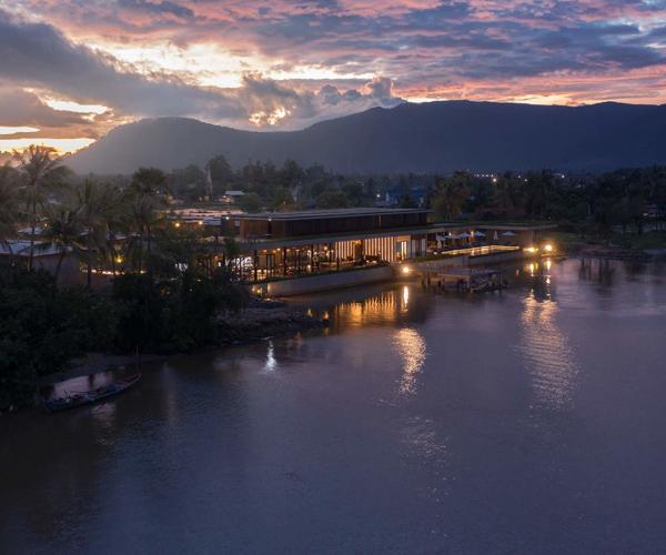 Amber Kampot resort sunset