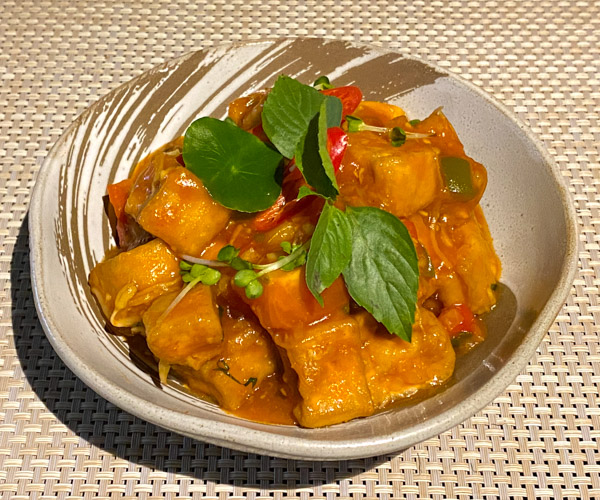 Amber Kampot sweet and sour tofu