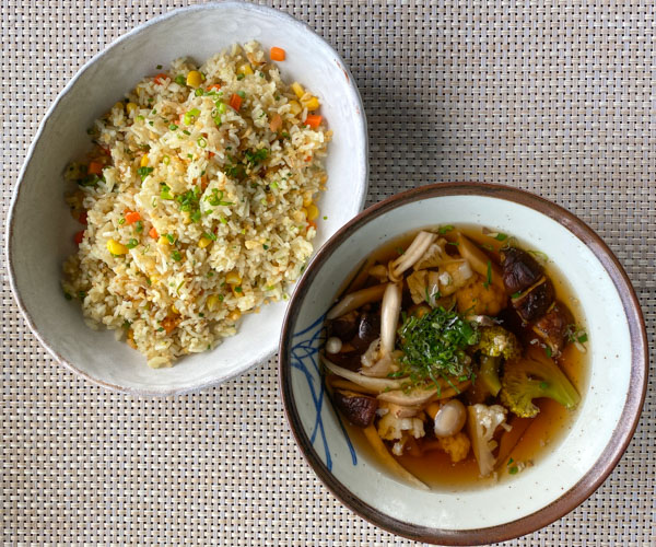 Amber Kampot vegan breakfast