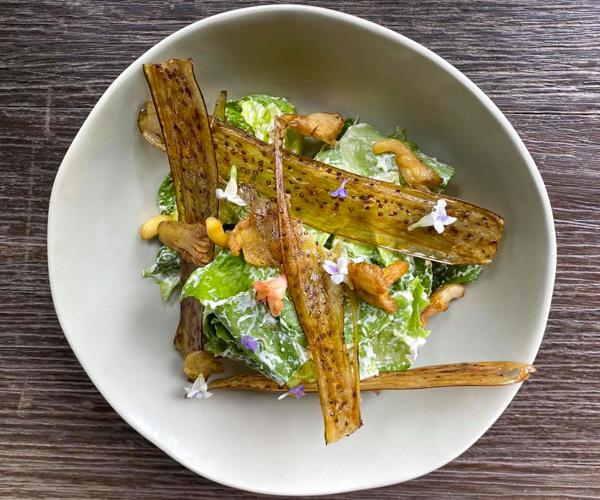 Vegan Caesar Salad at Shinta Mani Wild