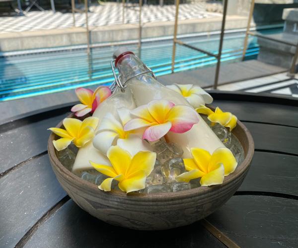 Bensley Collection Siem Reap - homemade soya milk