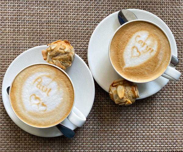 Shinta Mani Angkor coffee and vegan muffins
