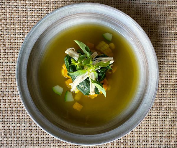 Shinta Mani Angkor vegan soup