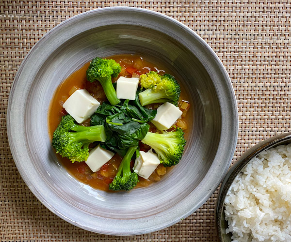 Shinta Mani Angkor vegan sweet and sour tofu