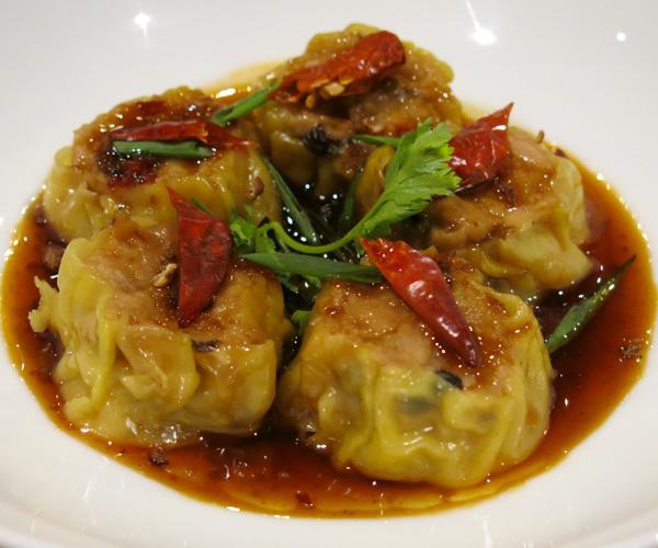 Hyatt Regency Phnom Penh Beyond Meat dumplings