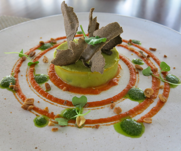 vegan zucchini mousse at Sofitel Angkor