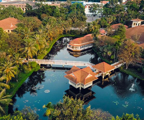 Sofitel Angkor aerial view lake