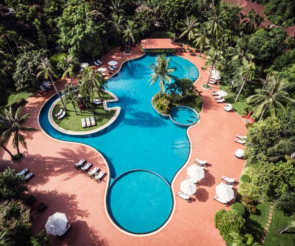 Sofitel Angkor aerial view pool