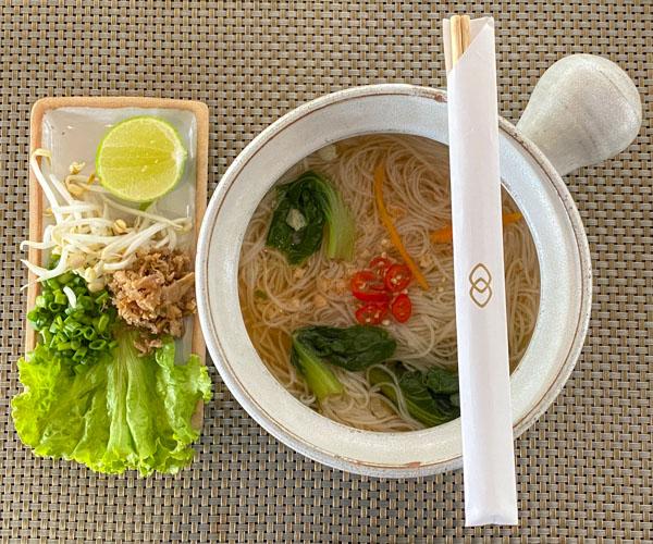 vegan noodle soup at Sofitel Angkor