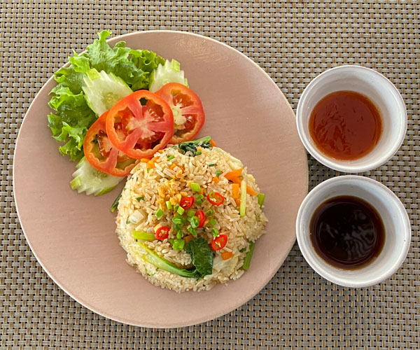 vegan fried rice at Sofitel Angkor