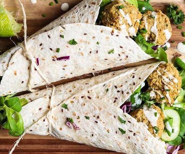 Kebab Falafel Time vegan wrap