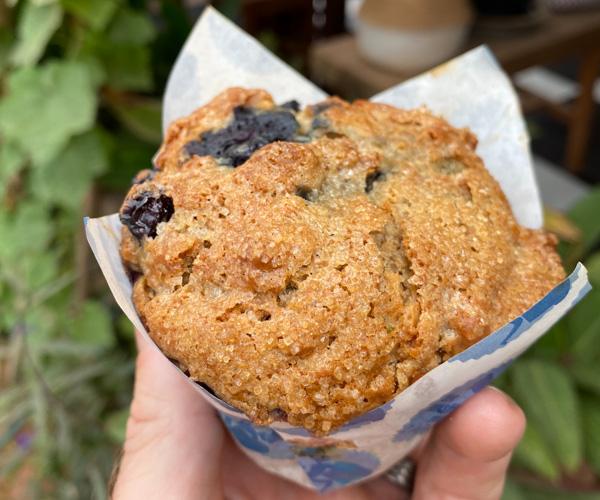 Muffin Man blueberry muffin